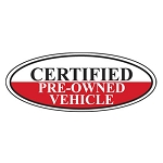 Certified Pre-Owned Vehicle Oval Sign (Additional Colors Available)