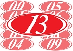 2 Digit Oval Year Model Signs (12)