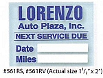 Service Loyalty Small Reminder Stickers 250 Minimum