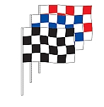 Poly Checkered Rectangle Antenna Flag (12)