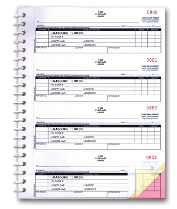 Fuel Purchase Order Book (200)