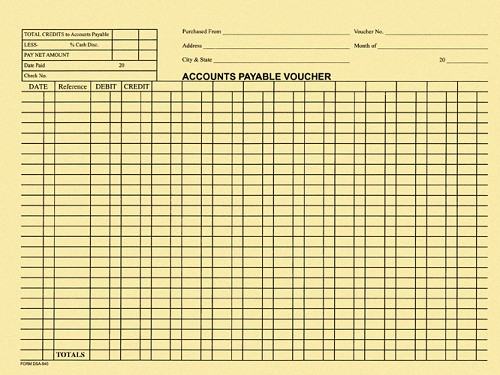 Accounts Payable Voucher Envelopes (100)